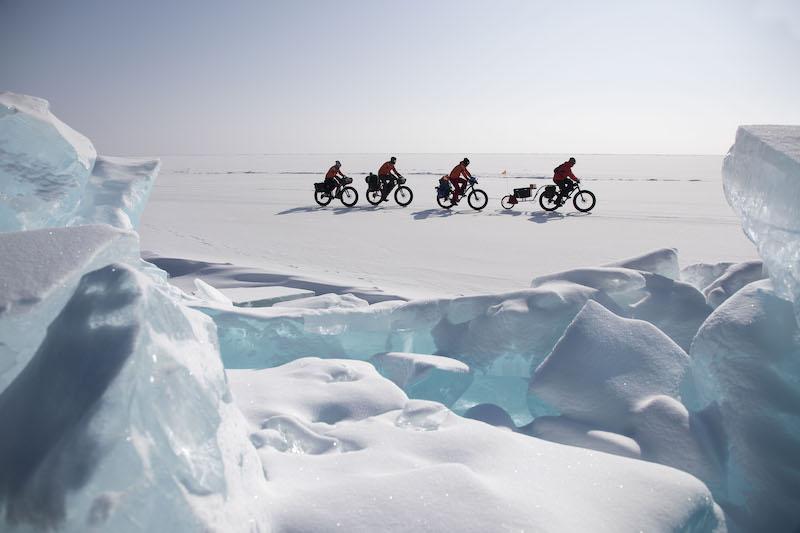 Fatbike lago Baikal Siberia Rusia