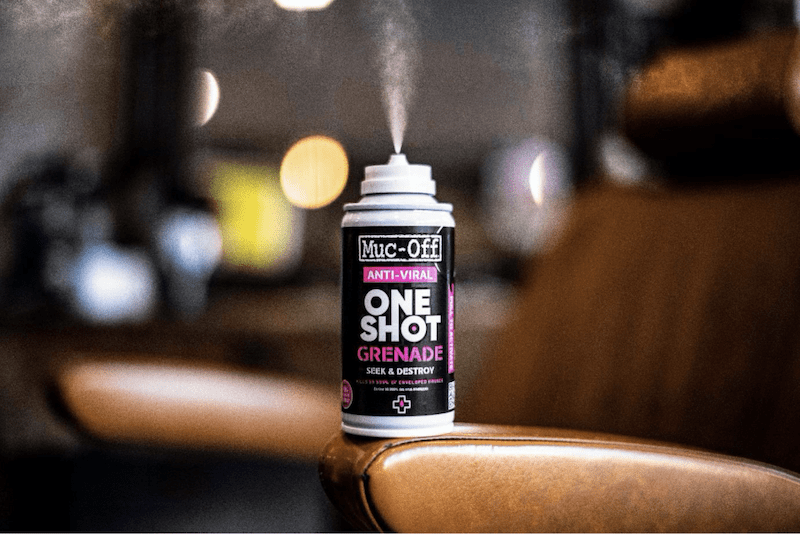 Muc-Off lanza la primera granada one shot Anti-Virus