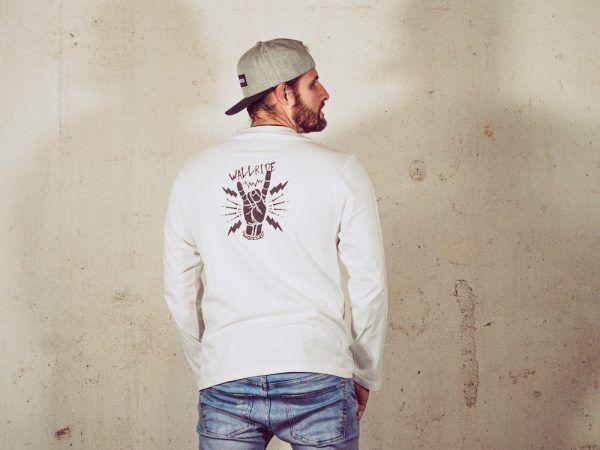 Wallride Clothing Camiseta manga larga blanco-2
