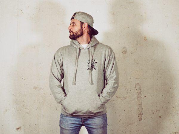 Wallride Clothing Sudadera con capucha gris-2